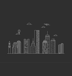 boston city skyline usa vector image