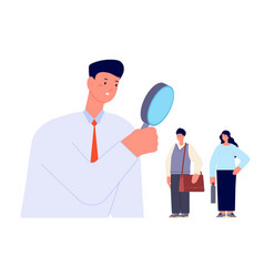 candidate search find professionals look vector image