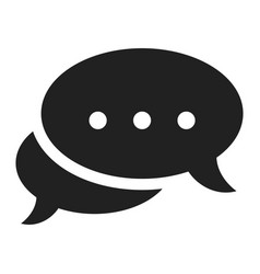 chat icon black communication and outline contact vector image