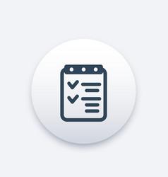 Checklist icon completed tasks achievements vector