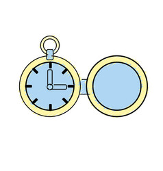 Clock of pocket to know the time vector