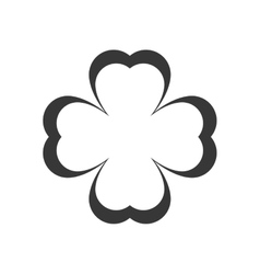 clover leaf silhouette vector image