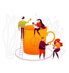 coffee break - flat design style colorful vector image