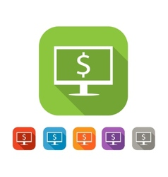 Color set of flat internet business icon vector image