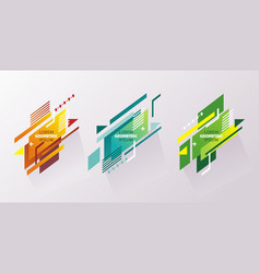 colored signs in abstract shape background vector image