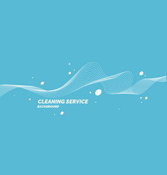 Conceptual poster for cleaning service on a blue vector