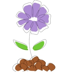 Cornflower drawing vector image