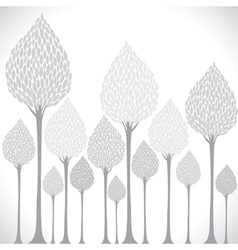 creative grey tree background vector image
