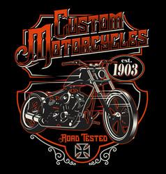 Custom motorcycles vector