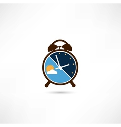 Day and night alarm clock vector image