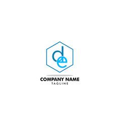de initial letter logo design template vector image