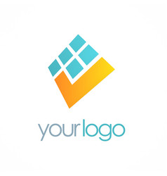 Digital check mark logo vector