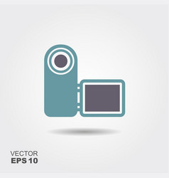 digital video camera icon in flat style isolated vector image