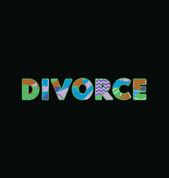 Divorce concept word art vector