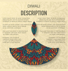 diwali floral pattern background vector image