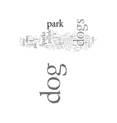 Dog parks pros and cons vector