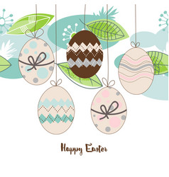 easter seasonal background hanging decorated vector image