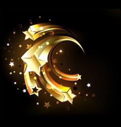 fast golden stars vector image
