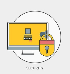 Flat design concept for security for web ba vector