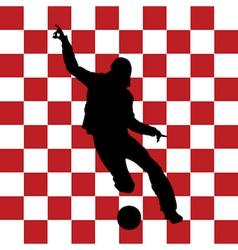 football Croatia flag vector image