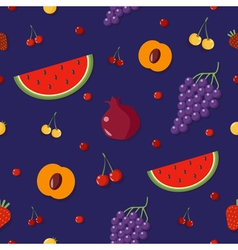 Fruits Background Berries Seamless Pattern vector image