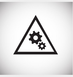 gears sign on white background vector image