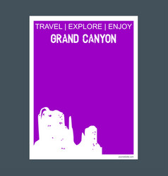 grand canyon arizona united states monument vector image