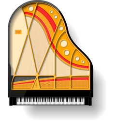 Grand piano interior vector image