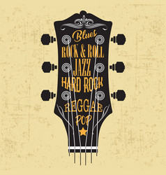 guitar knob head music vector image