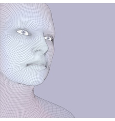 Head of the Person from a 3d Grid Human Face vector