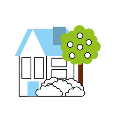 House tree fruit residence property real estate vector
