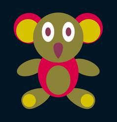 Icon in flat design koala toy vector