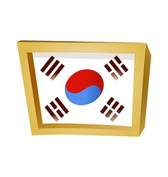 Icon Korean flag vector