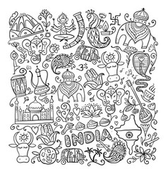 Indian lifestyle sketch for your design vector