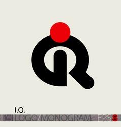 IQ Logo Monogram or Intelligence Symbol vector