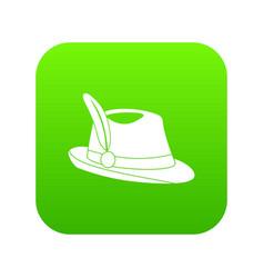 Irish hat icon digital green vector