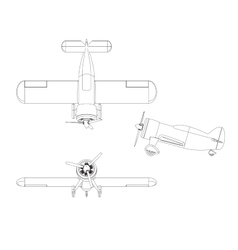 Isolated propeller plane set vector