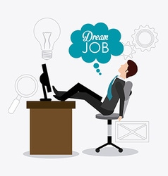 Job digital design vector image