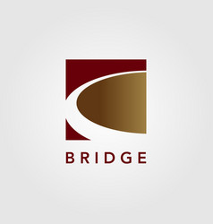 modern bridge logo icon design vector image