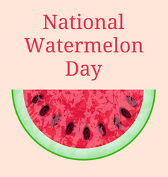 national watermelon day 3 august slice of vector image