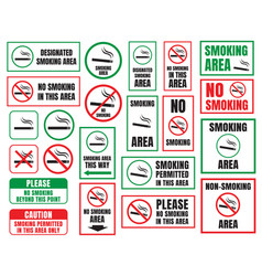 no smoking and smoking area vector image