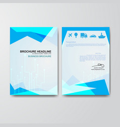 paper art of business brochure template vector image