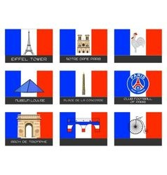 Paris destination traveler vector
