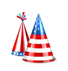 Party Hats with Flag of the United States of vector image