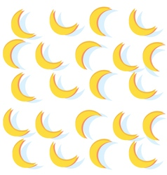 Pattern abstract bananas Yellow moon background vector