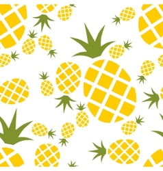 Pineapple seamless pattern vector