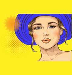 Pop art pin up a sexy girl vector