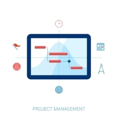 Project management flat icons vector