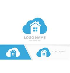 Real estate logo combination house vector
