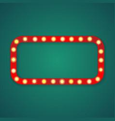 Red light rectangle corners frame vector
